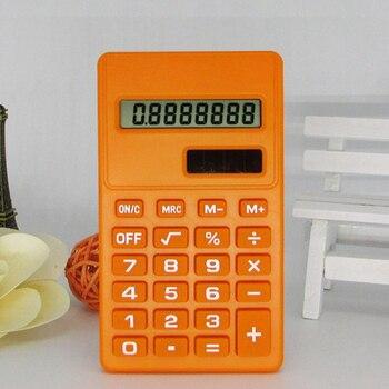 Etmakit Pro Cartoon Mini Calculator 8 Digits Display Dual Power Supply Cute Candy Calculadora Solar Hesap Calculatrice Solaire
