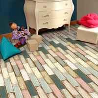 5 M Kleurrijke zelfklevende Houtnerf Floor Contact Papier Die PVC Verwijderbare Decoratieve Film Wal Stickers
