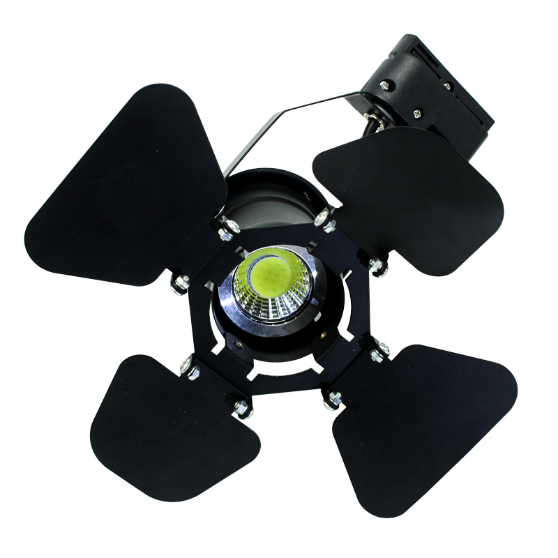 6pcs/pack High light 5W COB Led Track light LED clothing store light LED Spotlight with adjustable cover on front Outdoor stage led track light50wled exhibition hall cob track light to shoot the light clothing store to shoot the light window