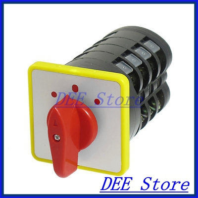 AC 500V 16A on/off/on 3 Position Rotary Cam Universal Changeover Switch LW5D-16 wholesale and retail traditional acupuncture massage tool natural 5a red yellow bian stone guasha board 100x60x8mm scrapping