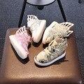Tamanho 21-29 usb nova unisex meninas meninos led light up crianças shoes para crianças respiráveis tênis brilhantes luminous casual shoes