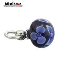 Genuine 925 Sterling Silver Flower Tassel Charm Beads Fit European Troll 3 Mm Bracelet Necklace Jewelry