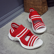 Fires Summer Mesh Women Sandals Fashion Casual Shoes Slip-on Wedge Swing Shoes Height Increasing Platform Sandals Lady Leafers