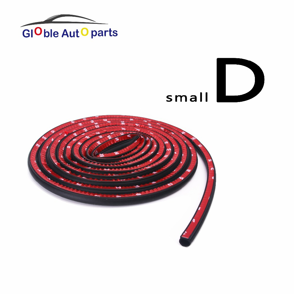 Small D Car Door Insulation Rubber Seals For Bmw Peugeot Audi Auto Noise Sound Adhesive Rubber strip Waterproof Rubber Sealant cawanerl car sealing strip kit weatherstrip rubber seal edging trim anti noise for nissan almera march micra note pixo platina