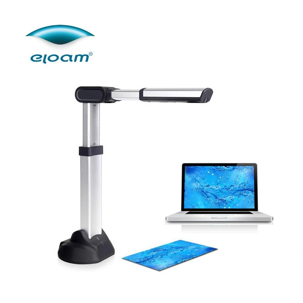 Eloam S501A3AF 5MP A3 autofocus haute vitesse USB portable caméra scanner OCR PDF livres Photo JPEG
