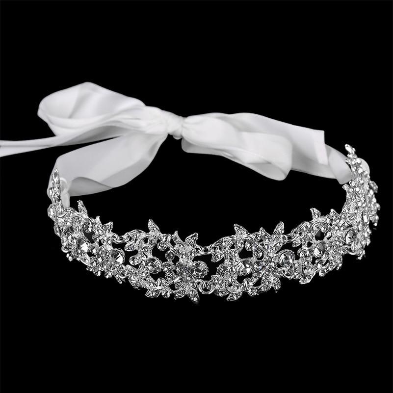 Elegant Ladies Crystal Flower Headband Hairband Hair Band Accessories Head Crown