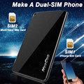 NeeCoo Me2 For Apple Dual SIM Dual Card Adapter Ultra Thin Wireless Bluetooth 3 4 0