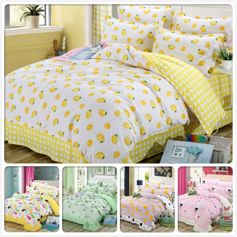 Power Source Sporting Lemon Duvet Cover Ab Side 150x200 180x220 200x230 3/4 Pcs Bedding Set Kids Boys Bed Linen Single Twin Queen Size Cotton Bedlinen Convenient To Cook