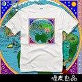 LA CANCIÓN DE HIELO Y FUEGO de manga corta camisetas del mundo mapa de Poniente, de moda de verano Camisetas frescas streetwears
