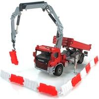 Kaidi Wei five loaded alloy rescue car suit fire truck trailer crane truck model toy 626032