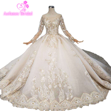 Custom Made Lace Princess Wedding Dresses 2019 Sweetheart Long Sleeves Ball Gown New Buy Direct From China Factory