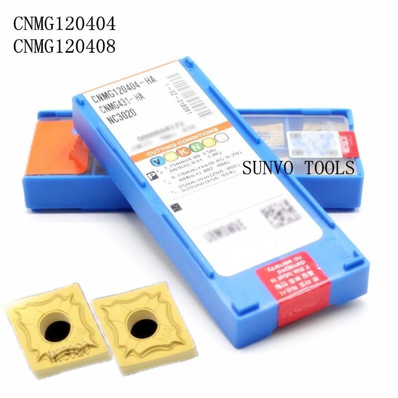 CNMG120408 CNMG120404-HM/HA/HM/HS/GS PC9030 NC3020 CNC carbide milling inserts indexable end milling cutter mclnr2020k12 mclnl