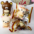 10 pcs New Super Bonito Urso Rilakkuma Squishy Lento Subindo Pão Phone Straps Kawaii Squishies Atacado