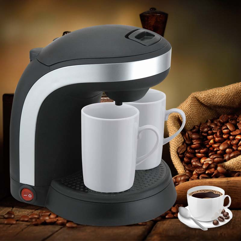Electric Double Serve drip coffee maker Cafetera express Fully automatic coffee machine 2 Cups Kitchen Appliances 220-240V home intelligent fully automatic american style coffee machine drip type small is grinding ice cream teapot one machine