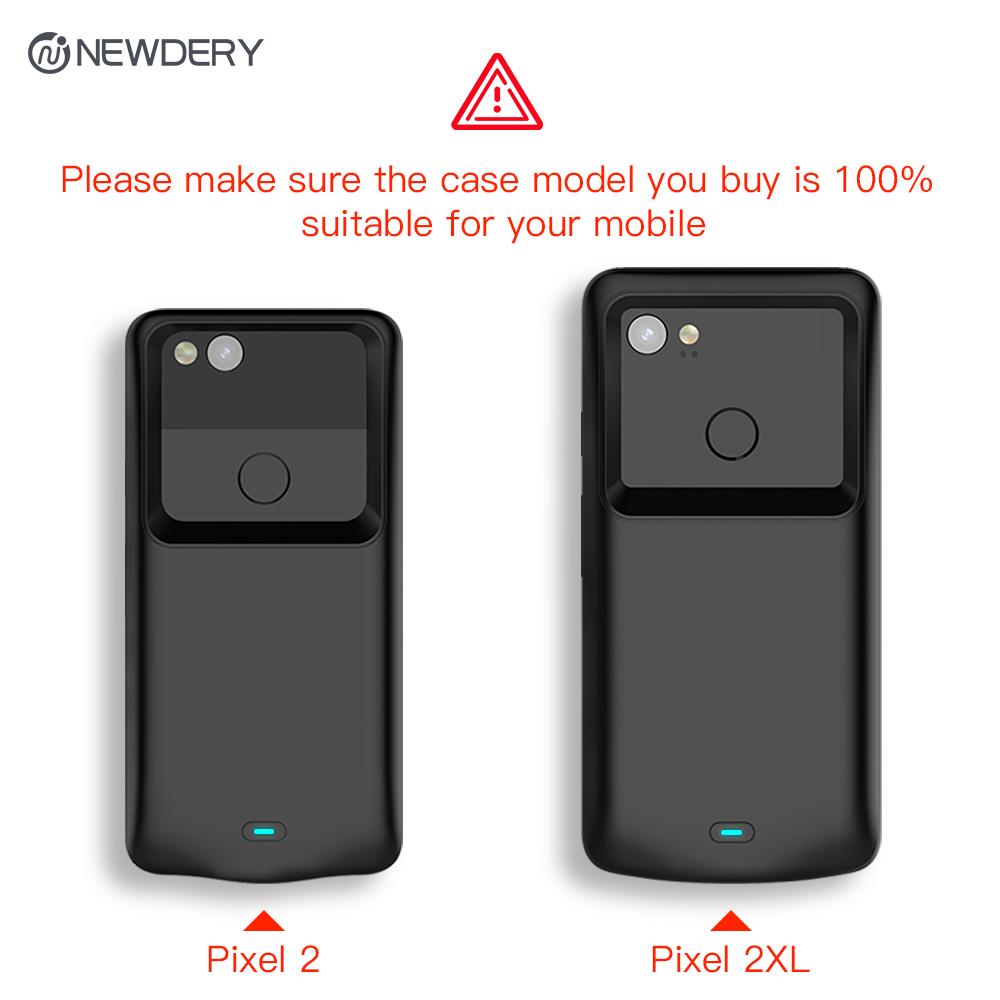 uk availability 8c444 8ff35 US $36.59 40% OFF| NEWDERY battery charger case for Google Pixel 2 2XL  4700mAh Exclusive Slim Portable Charging Case for Pixel 2 XL 5200mAh -in ...
