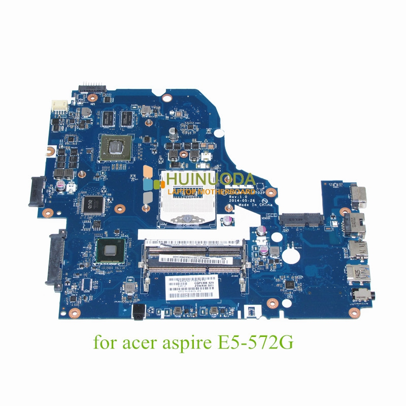 NOKOTION Laptop motherboard For acer aspire E5-572G NVIDIA Mainboard Z5WAW LA-B702P NBMQ011001 NB.MQ011.001 цена