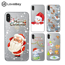 Christmas Phone Case Iphone Xr.Lovebay Christmas Phone Case For Iphone Xr Xs Max X Santa Claus Elk For Iphone 7 8 6 6s Plus Snowman Soft Silicone Back Cover