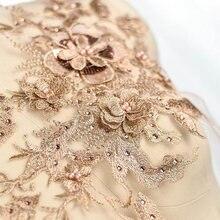 1 gold lace applique, heavy bead 3D applique with rhinestones, bridal 3d floral, flower