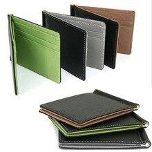 Новое поступление мужские Волшебные сумочки из кожи Модные кожаные карты$ ID держатель Sollid тонкий кошелек футляр для путешествий