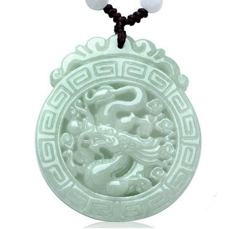 Natural jadeite Dragon Brand pendant Dragon Play Beads zodiac transshipment protective Yu Pei necklace Send a