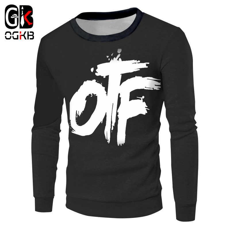 OGKB черные толстовки женские/мужские новые Harajuku 3D печати OTF Модный свитшот Толстовка Homme Спортивная одежда для хип-хопа с капюшоном с длинным рукавом