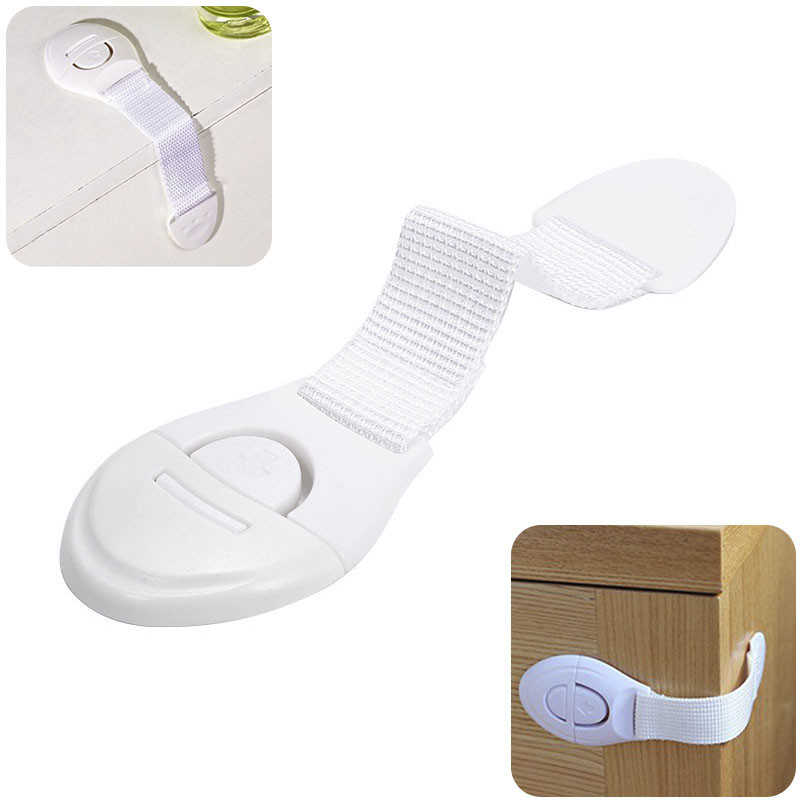 Baby Multi Function Extended Cupboard Door Drawer Lock Baby Ribbon Security Against Hand Child Cloth Belt Safety Lock Protect