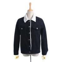 Vintage Lambswool Jacket Coat Autumn Winter Warm Long Sleeve Corduroy Jacket Women Hairly Collar Female Overcoat