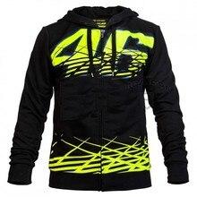 KODASKIN Black Sweatshirts Clothing Cotton Rossi VR46 Hoodies MotoGP Factory Team Jackets Motorcycle Winter Motorbike VR 46 Coat