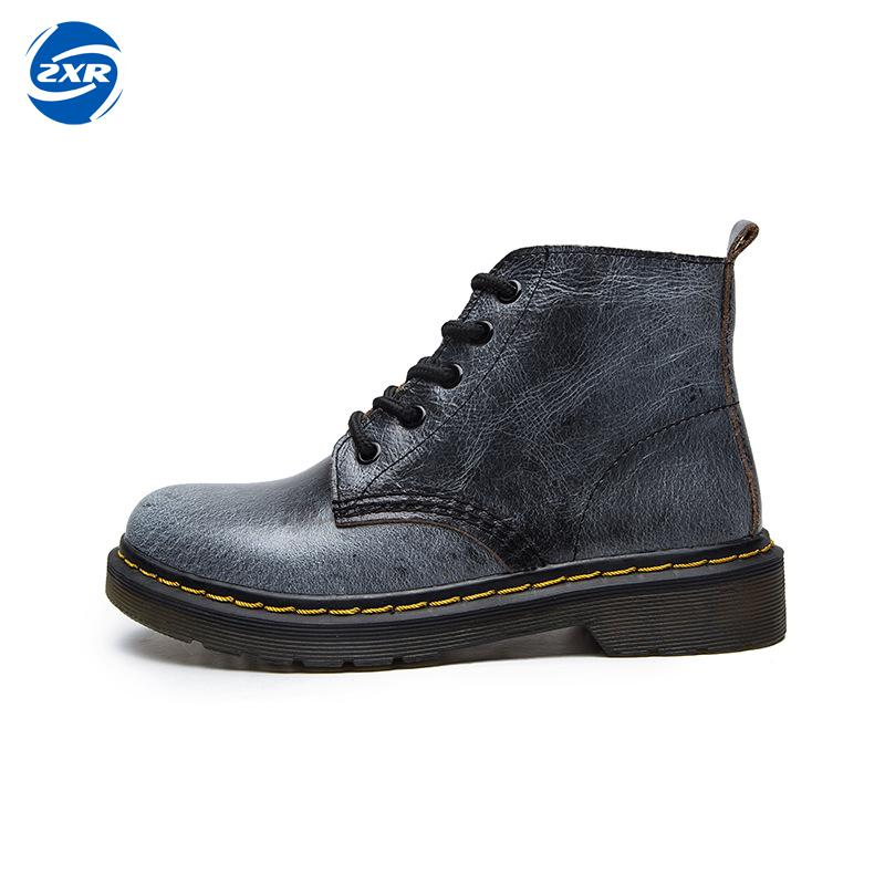 Woman Fashion Genuine Leather Motorcycle Ankle Boots Female Lace Up Low Heels Platform Comfortable Spring Autumn Shoes yaerni woman fashion genuine leather motorcycle ankle boots female lace up low heels platform comfortable spring autumn shoes