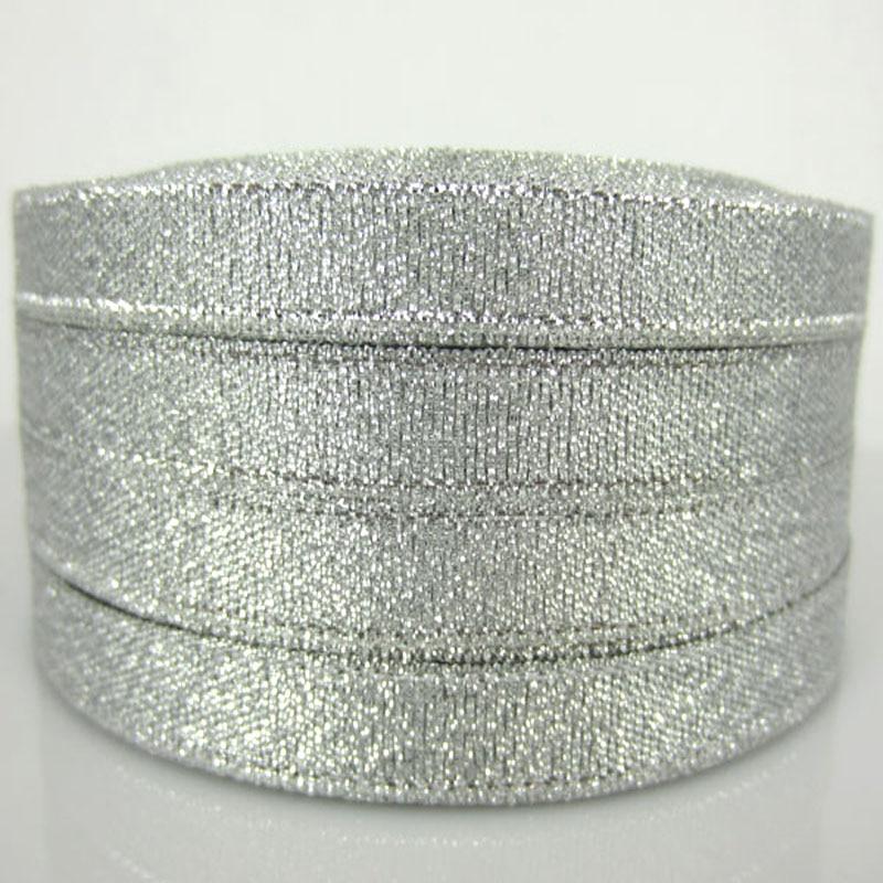 """250 ярд 3/"""" золотые серебряные блестящие атласные ленты для Рождества, свадьбы, дня рождения, подарочная упаковка, украшения для вечеринки сделанные своими руками 10 мм"""
