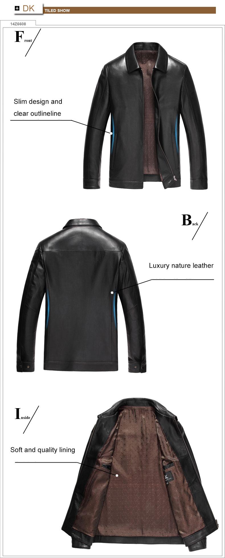 Jacket Black/Slim/Simple Genuine Stop118 4