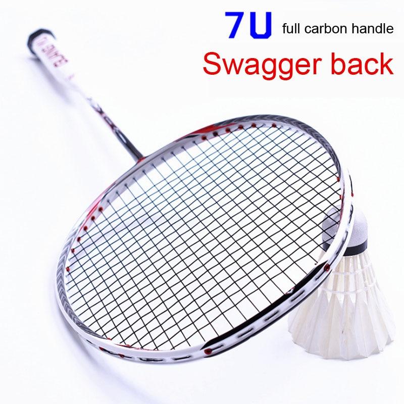 67 G Badminton Racquet Ultra Light 7U Offensive Men's And Women's Rackets A Conjoined Carbon Badminton Racquet