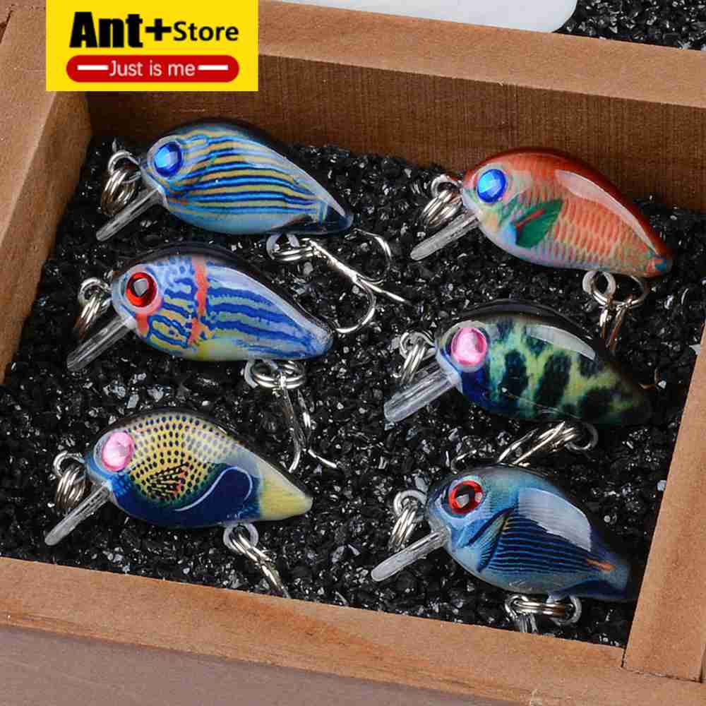 Peche 6pcs/set Mini Crank Fishing Lures Lifelike Plastic Hard Baits Wobblers Crankbaits for Fishing Topwater Artificial Pesca