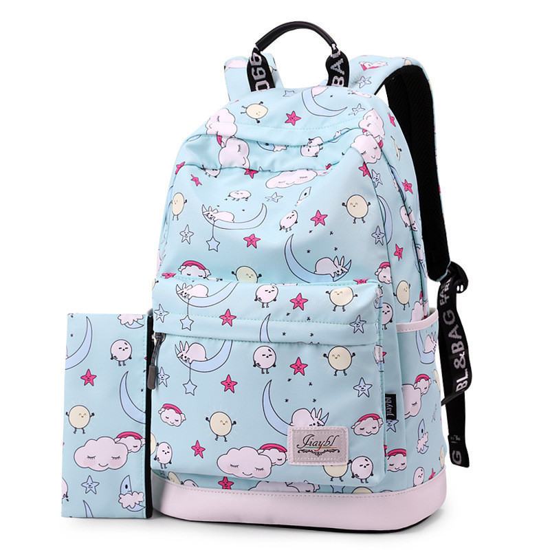 2019 New Printing Girl School Bag Kid Backpack Zipper Backpacks School Bags  For Teenagers Girls Big Capacity female mochila d5ccf0aba6