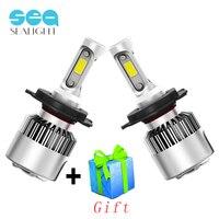 SEALIGHT H4 LED H7 H11 H8 H9 H1 9006 HB4 Car Headlight COB Auto Lamp 6500K