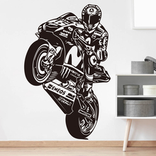 Valentino Rossi The Doctor Motor Race Wall Decal Boy Room Kids Room VR 46 Motorcycle Racing Sport Wall Sticker Living Room