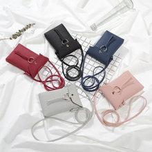купить Fashion New Small Female Shoulder Bags Phone Ladies Handbags Girl Cross Body High Quality Shoulder Bag PU Leather Mini Girls Bag по цене 231.22 рублей