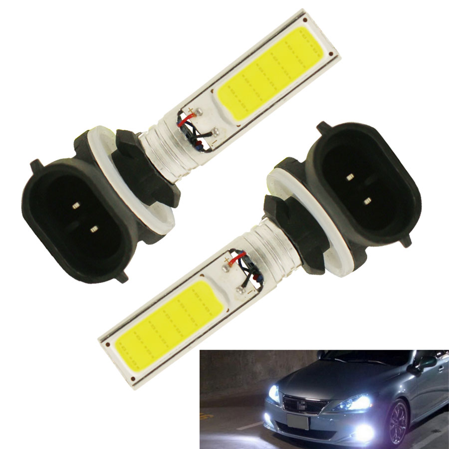 HYZHAUTO 2Pc H27 H27W2 881 COB LED Fog Light 10W Auto Driving Fog Lamps Bulb White H27W/2 894 896 898