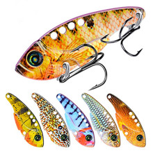 Купить с кэшбэком Spinner Trout Spoon Fishing Lures Shads Wobblers Jig Lures VIB Hard Baits Sequins for Carp Fishing Tackle Pesca Isca