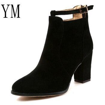 Plussize35 43 Casual Zapatos Mujeres Mujer Otoño Invierno Botas Calientes Tobillo Caliente Tacones Altos Bombas 4Sc5ALq3Rj
