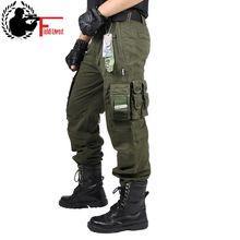 CARGO spodnie kombinezon męski Mens Army Odzież taktyczne Spodnie wojskowe Odzież robocza wiele Pocket Combat Army style proste spodnie tanie tanio Mężczyzn Pełna długość airsoft taktyczne jednolite Wojskowych Połowie Luźne Płaskie Wagi ciężkiej Spodnie cargo