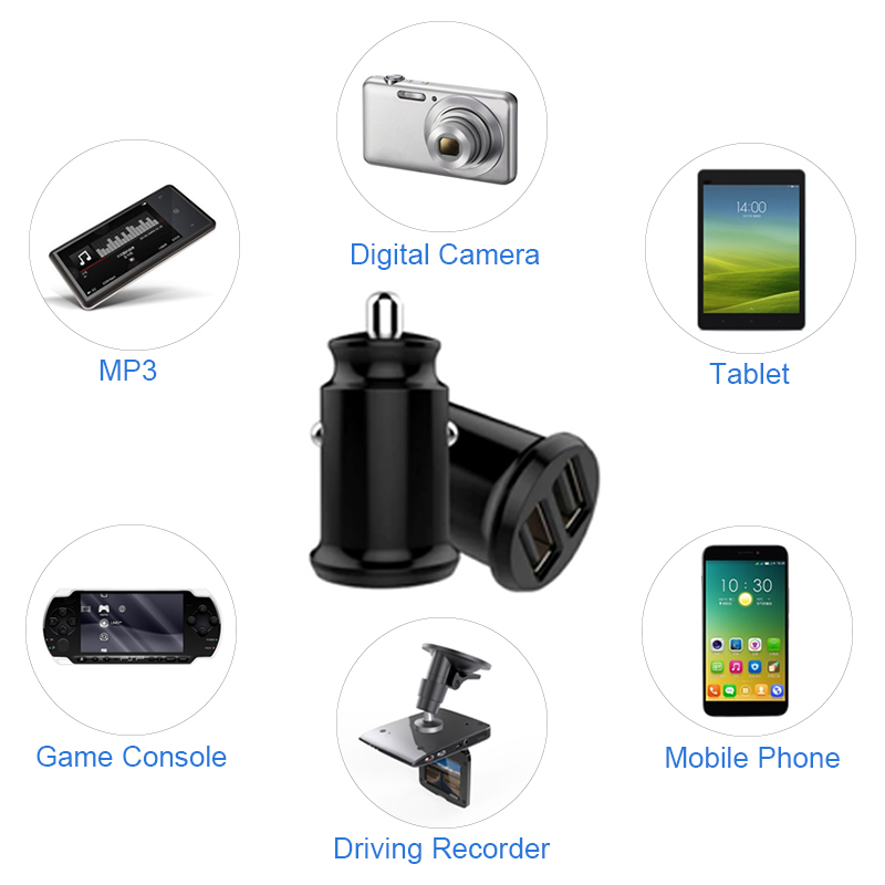 12V 24V Mini Fast Car Charger USB Charge For Mobile Phone Display 5v 3 1A Car Cigarette Lighter Adapter Charging Socket Charger in Car Chargers from Cellphones Telecommunications