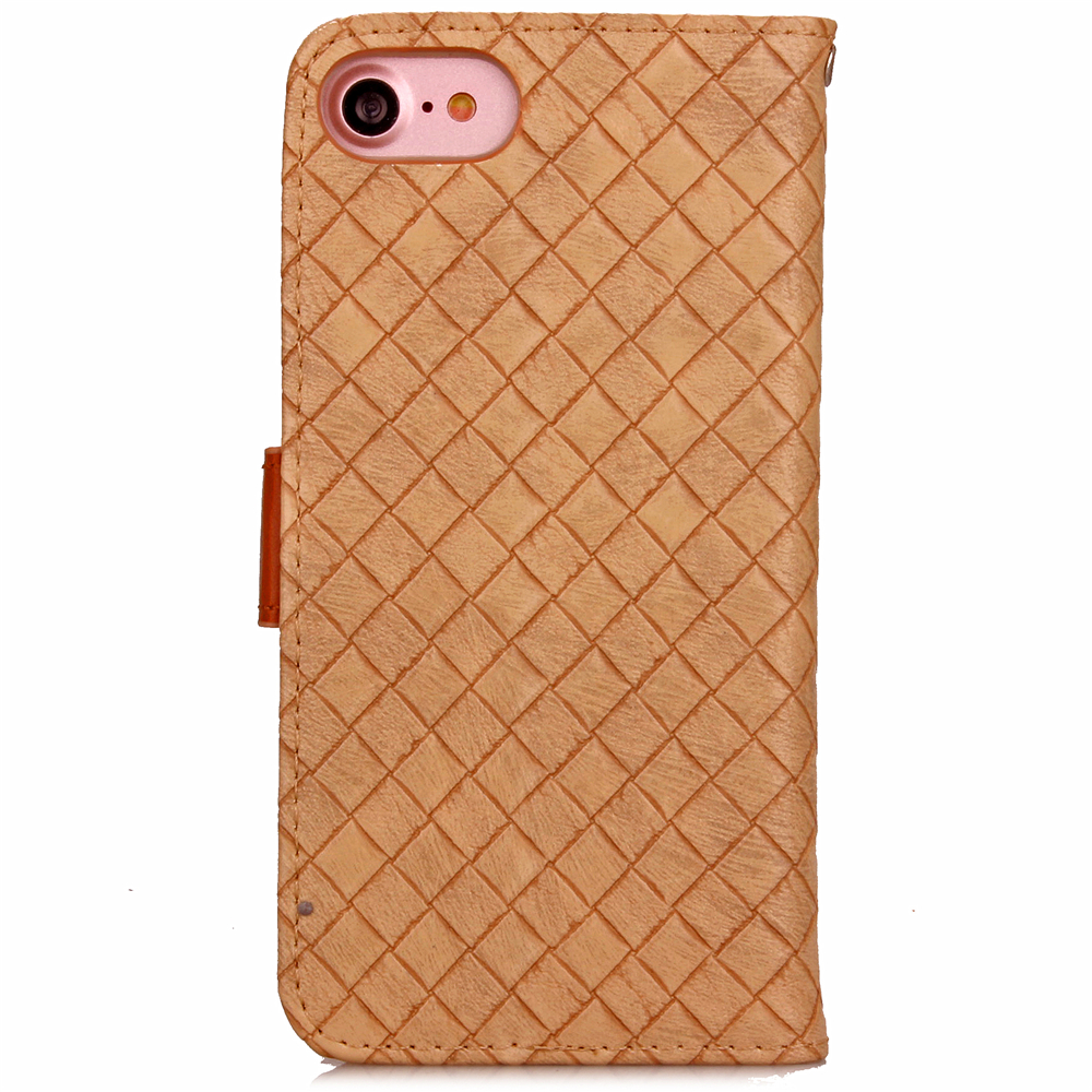 Fundas Braided lines Style Luxury PU Leather Flip Cases For Apple iPhone 7 Coque Phone Cover Case For iPhone 7 Capinhas Celular