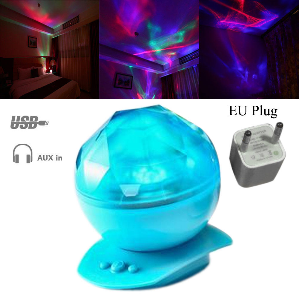 Color Changing Aurora Star Borealis Indoor Laser Projector LED Starry Sky Night Light Lamp With Speaker For Party Decor вафельница aurora star eggettes 180 a16