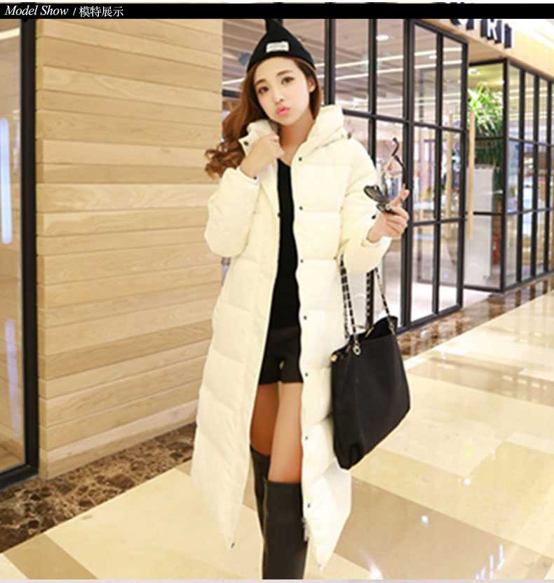 New Arrival Fashion Winter Warm Super-Long cotton Jackets Thickening Slim Large Size Hooded Long Sleeves Women cotton Coat H5241 new arrival fashion korean slim long sleeves hooded collar zippers thickening mid long cotton wadded overcoat women coat h5812