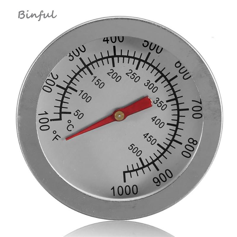 Ustensiles de cuisson F/C 2 acier inoxydable BBQ fumoir Pit Grill thermomètre bimétallique jauge de température avec double jauge 500 degrés outils de cuisson