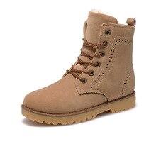 Fabrecandy высокое качество Мужские ботинки теплые зимние сапоги повседневная обувь Мужские ботинки кожаные плюшевые Мех любителей моды унисекс Сапоги и ботинки для девочек