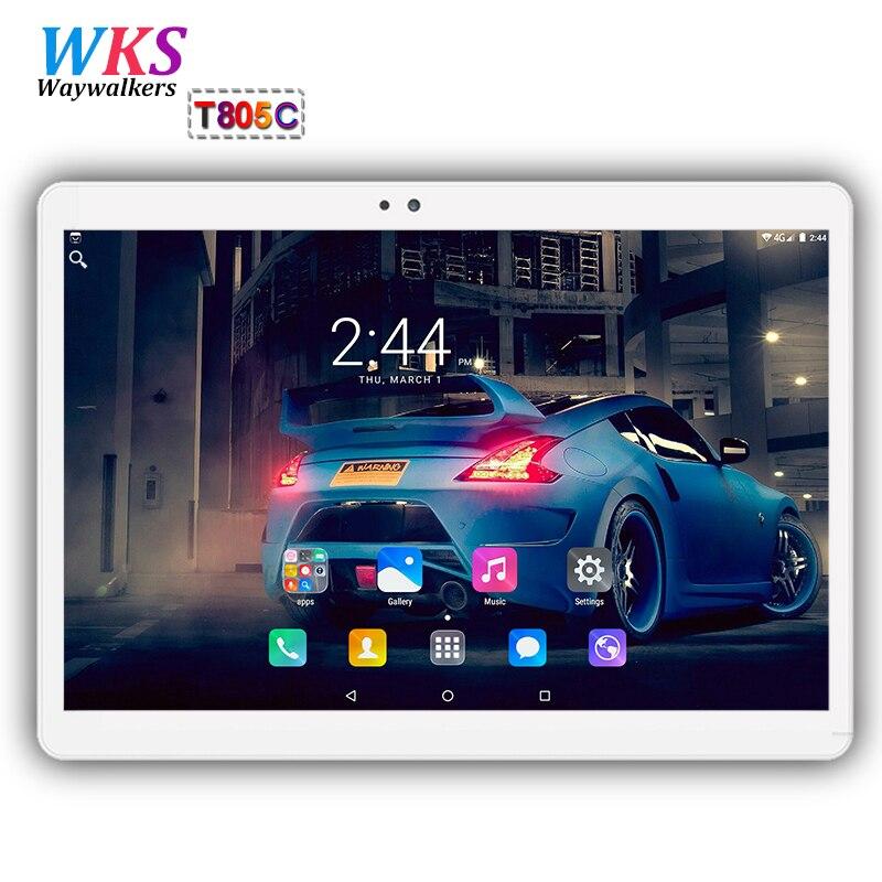 Originale di 10.1 di pollice 3g/4g LTE tablet pc Android 7.0 Octa Core 4 gb + 64 gb 1920*1200 IPS Dual SIM di WIFI FM Bluetooth Smart tablet pc