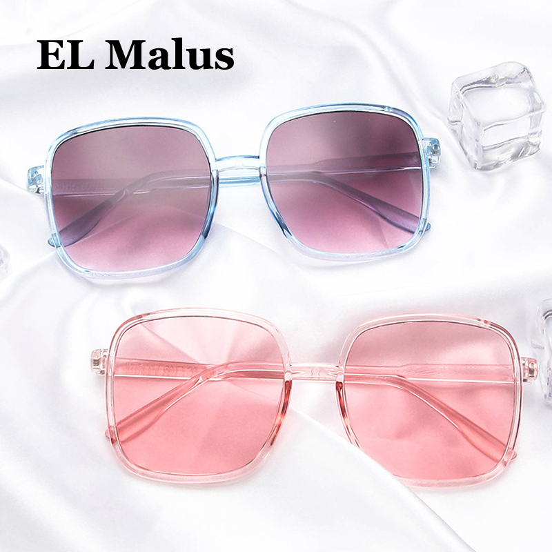 small Thin Square Frame Sunglasses Women Mens Pink Tan Lens Leopard Shades Sexy Ladies Sun Glasses Oculos Men's Sunglasses el Malus Men's Glasses