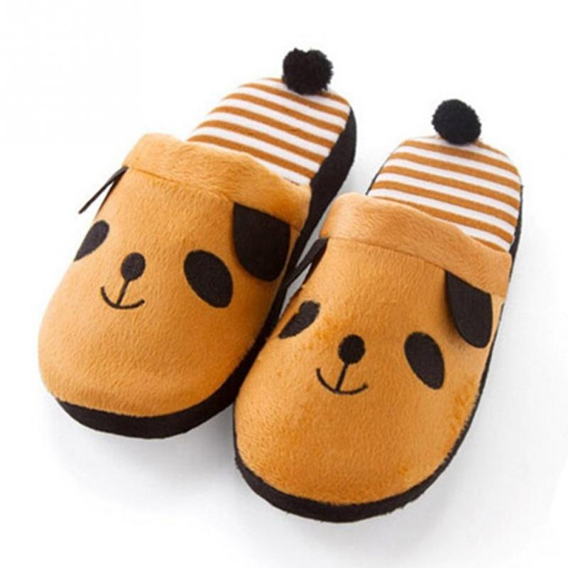 Women's Autumn Winter Slipper Coral Velvet Warm Soft Anti-slip Home Slippers Lovely Animal Plush Shoes With Tail Shoe